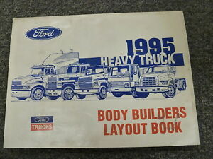 1995 Ford L8000 L9000 Hd Truck Chassis Layout Body Builder Drawing Manual