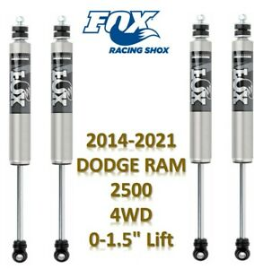 Fox 2 0 Ifp Series Front Rear Shocks For 14 21 Dodge Ram 2500 0 1 5 Lift 4wd