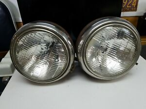 Vintage 1930 s Ford Car Headlight Bucket Rat Rod Chevy Dodge Ford Original