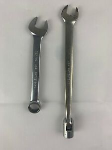 Snap On 9 16 Sae Short Chrome Combination Wrench Oex180 1 2 Socket End Fho16