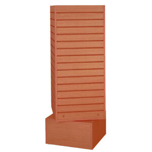 Revolving Slatwall Display In Cherry 20 W X 20 D X 60 H Inches