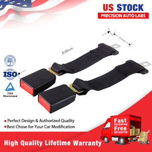 2 Buckle Universal Car Seat 14 Seatbelt Safety Extender Belt For Chevy Gmc Us