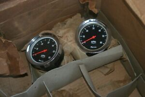Nos Faria 6000 Rpm 4 Cyl Tachometer And Cup Great Cobra Parts Tachometer