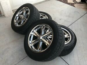 20 Ultra Wheels 6 Lug Pattern Gm Truck Suv Set Of 4 With New Tires 275x55x20