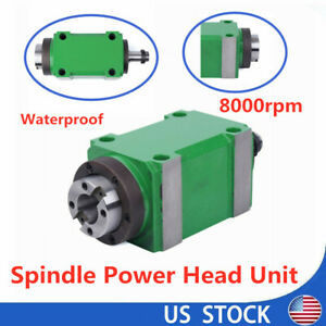 8000rpm Bt30 Spindle Unit Cnc Drilling Milling Power Milling Head Waterproof 2hp