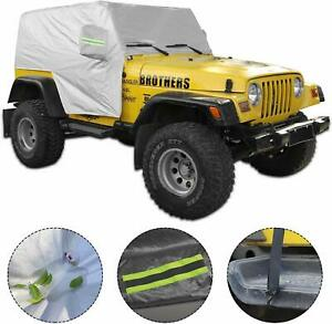 5 layer Waterproof Suv Cover Protection Car Cover For 1997 2006 Jeep Wrangler Tj