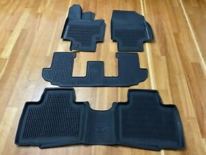Genuine Toyota New 2020 Highlander Rubber All Weather Floor Liners mats 4 Piece