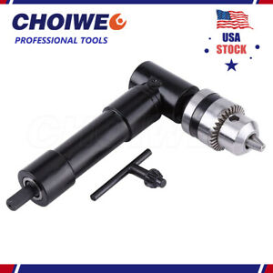 Cordless Right Angle Drill 90 Attachment Adapter Handle Chuck 3 8 Keyed Chuck