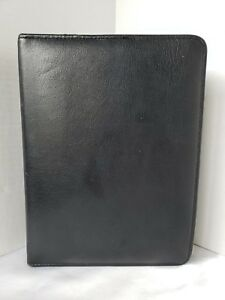Vintage Franklin Classic Zip Organizer Black Leather 1 5 Rings Some Inserts Usa