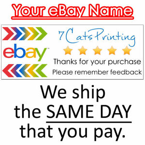 30 For Ebay Thank You Stickers For Sellers Address Label Size Custom Name