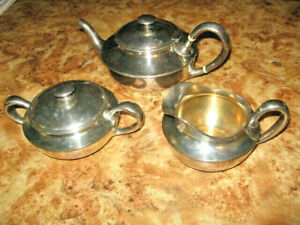 Vintage Sterling Silver Shreve Co San Francisco 3pc Tea Pot Set 3409 L K