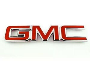 Red Front Grill Grille Emblems Badge For 2008 2010 Gmc Sierra 1500 2500hd 3500hd
