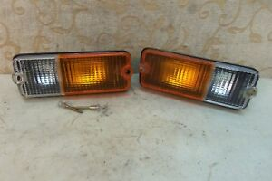 Pair Nos Genuine Carello Fiat 127 Series 1 Signal Light Lamp Assembly 1971 83
