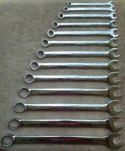 Craftsman Full Polish Long Combination 13 Standard Sae Wrench Set z Series