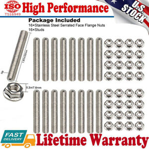 Exhaust Manifold Header Stainless Steel Studs nuts Bolts For Ford F150 4 6l 5 4l