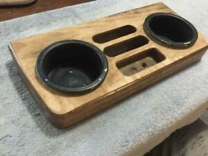 1990s Chevy Gmc Van Custom Center Console Cover Mini Oak Wood Drink Tray 1984 95