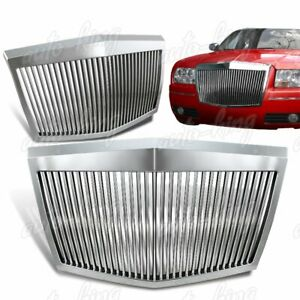 For Chrysler 300 300c Chrome Rolls Royce Phantom Style Front Hood Grille Grill