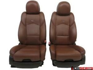 Cadillac Cts Sedan Oem Brown Leather Seats 2013 2014 2015 2016 2017 2018 2019