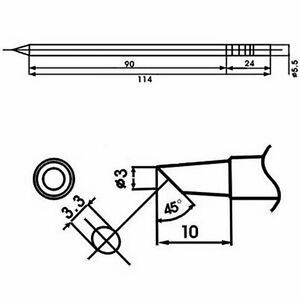 Aoyue Wq 3bc Soldering Iron Tip W Heating Element
