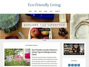 new Design Eco friendly Living Website Affiliate Product Blog Auto Posts