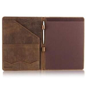 Leather Portfolio Professional Organizer Padfolio Resume Folder With Luxury