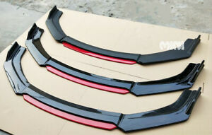 Gloss Black Front Bumper Lip Splitter For 2013 14 2015 9th Honda Civic Sedan Si