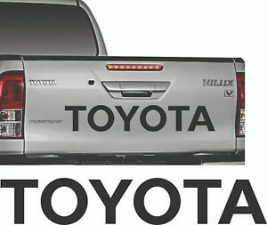 Toyota Black Sticker Hilux Tailgate Rear Decal Pick Up D4d Mk3 Kit 2 5 Diesel