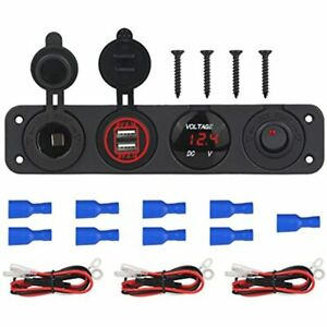 2 3 4 Hole Marine Illuminated Toggle Rocker Switch Panel Waterproof Ignition For