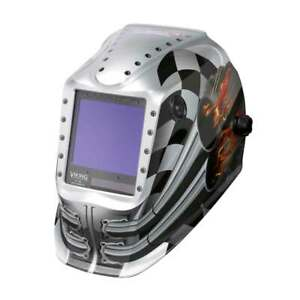 Lincoln Electric K3100 4 Viking 3350 Auto Darkening Welding Helmet With 4c Lens