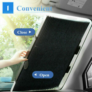 Auto Shade Car Retractable Curtain Uv Protection Front Windshield Sun Visor New
