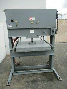 Ahi H Frame Hydraulic Press With Plattens 50 Ton Approx