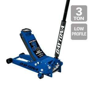 Floor Jack 3 Ton Low Profile Professional Rapid Pump Blue