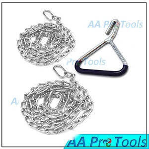 Ob Calf Pulling Chain 30 60 Length With Handle Chains Calving Supplies 3pcs