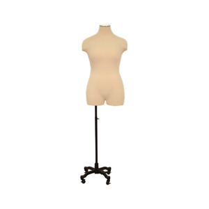 Adult Female Plus Size Half Body Mannequin 3 4 Dress Form Pinnable Torso