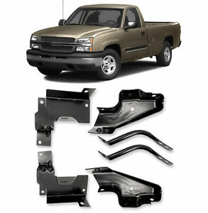 Bumper Bracket For 2003 2006 Chevrolet Silverado 1500 Set Of 6 Front Lh Rh