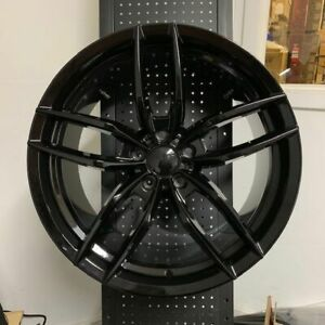 20 Voss Gloss Black Staggered Rims Wheels Fits Ford Mustang Gt 5 0 Ecoboost