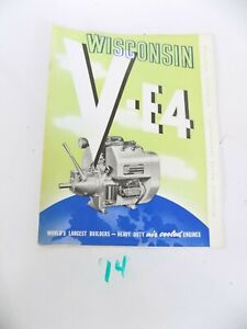 Wisconsin Air Cooled Heavy Duty Engines V e4 Sales Brochure