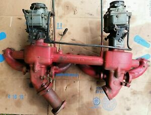 1941 1942 Buick Dual Carb Manifold 248 263 Small Series W Carbs
