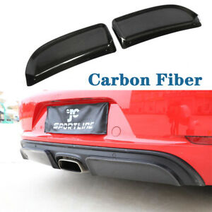 Carbon Rear Bumper Diffuser Splitters For Porsche 718 Boxster Cayman 2016 2019