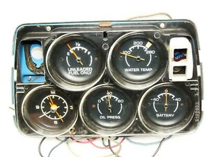 C3 Corvette Gauges Original 1974 1981 Corvette White Face Gauge Cluster