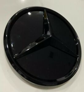 Mercedes Benz A class Gloss Black Front Grille Star Badge Emblems New