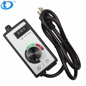 For Router Fan Variable Speed Controller Electric Motor Rheostat Ac 120v 15a