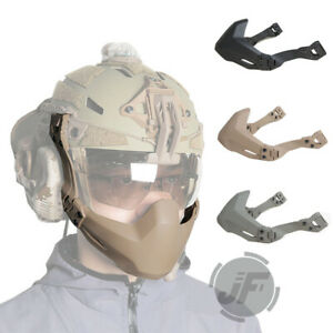 Tactical Half Mask Mandible Guard Protector for FAST MICH Helmet w side rail $24.95