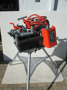 Ridgid Threader 1215 With Tri Stand Two Exc To New 811a 815a Heads