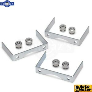 2 5 8 Aluminum Gauge Bracket Kit 3pcs Auto Meter 2226