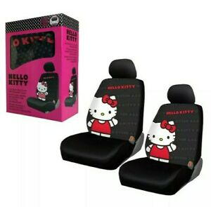 Hello Kitty Core Car Truck 2 Front Seat Covers With Headrest Covers