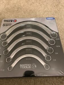 New Matco 5 Piece Sae Half Moon Wrench Set Smh5t