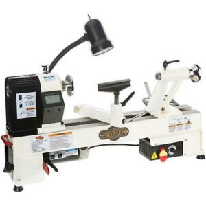 Shop Fox Benchtop Wood Lathe Electronic Variable speed Spindle Control White