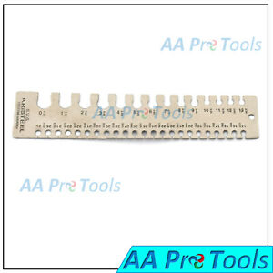 Wire Gauge Thickness Measuring Wire sheet Metal Gage Measurement Plate Wg 003