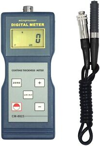 Eddy Current Coating Thickness Gauge Meter Nf Probe For Plastic Paint Brass